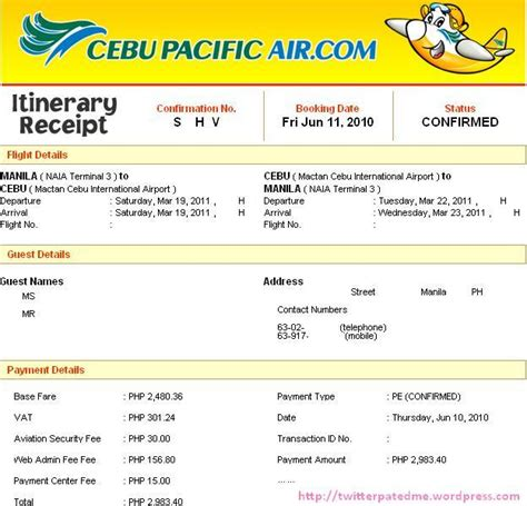 How to Pay for Cebu Pacific Booking via BDO   Twitterpated Me