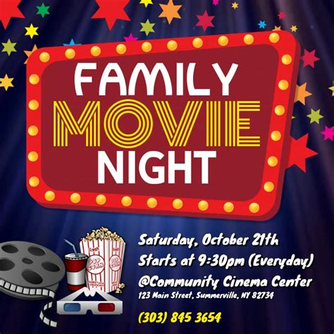 Family Movie Night Video Template   PosterMyWall